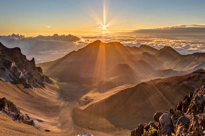 Catch sunrise from atop the crater of Maui's volcano, Mount Haleakala