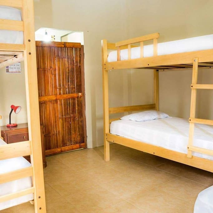 5 bed dorm - 2 bunk beds and 1 single bed