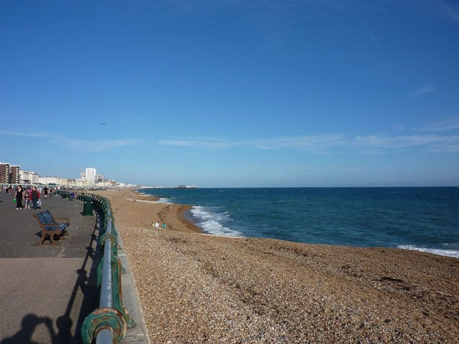 A wonderfully quiet beach in Hove is only two blocks away.