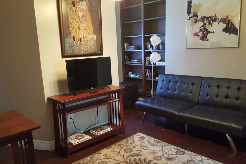 Leather double futon in Living room