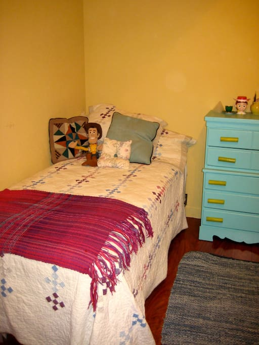 One twin bed . . .