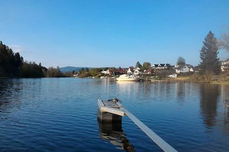 Private loft - waterfront - canoe - Vestfossen