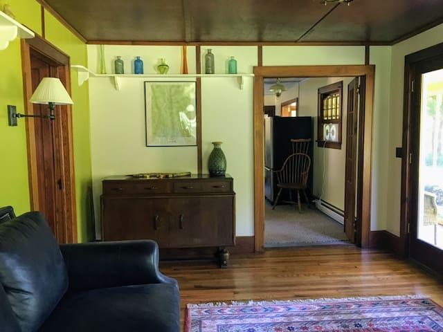 Living room looking toward kitchen