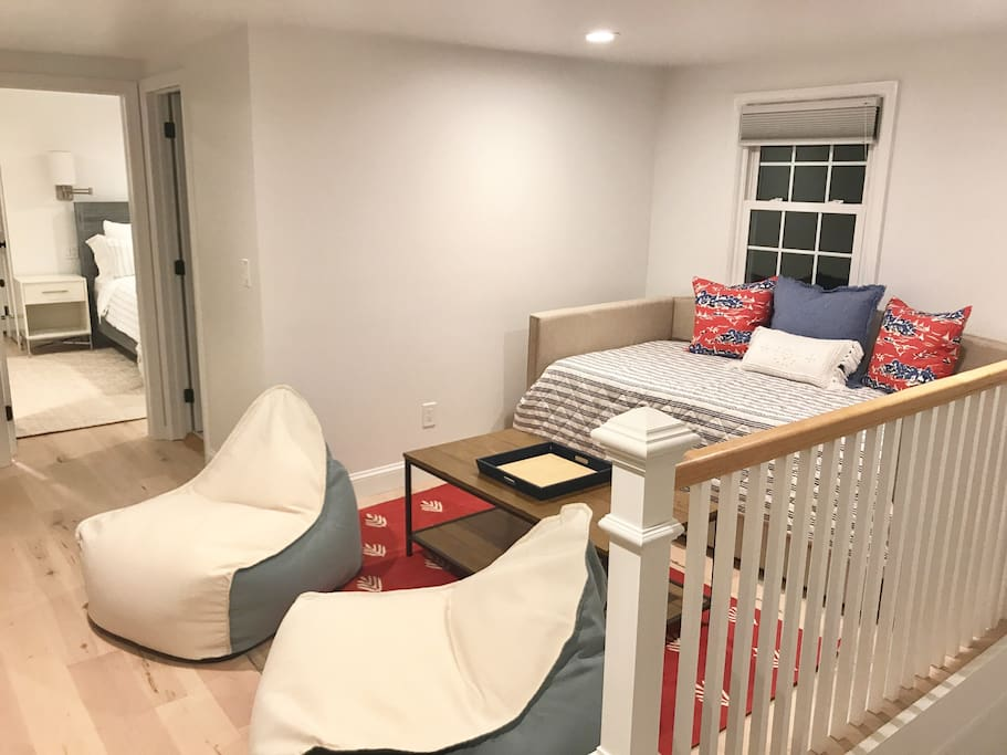 Upstairs TV Room w Daybed