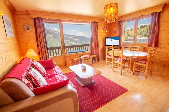 Cosy Apartment Meribel 50m Ski-lift!