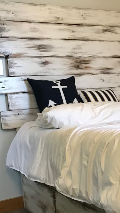 Custom hand-crafted queen bed