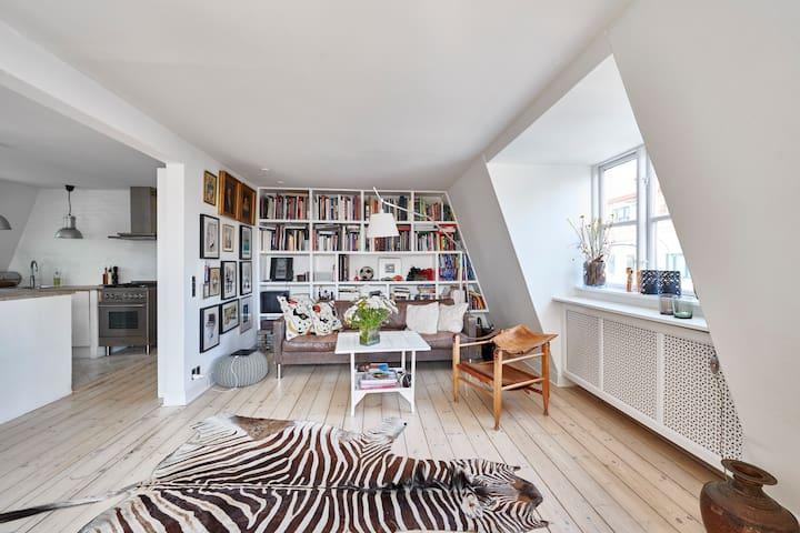 New York inspired apartment in Charlottenlund