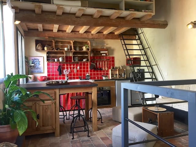 Renovated character studio in Alpilles, Provence