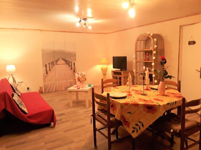 Appartement meublé chaleureux tout confort