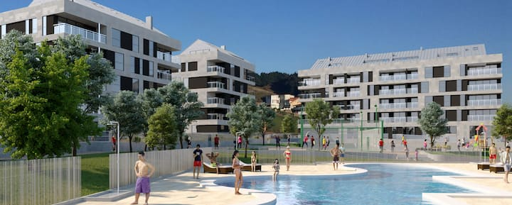 Apartamento en Luanco con piscina privada