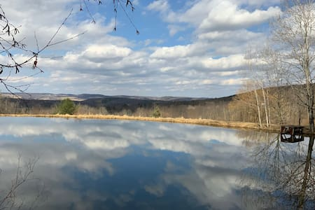 30 Acre Secluded Retreat with Private Pond & View!