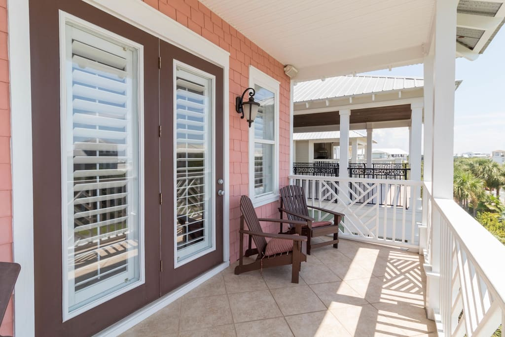 Serenity Now ~ Seacrest Beach ~ Master Bedroom Balcony 3rd Floor ~ Paradise Properties