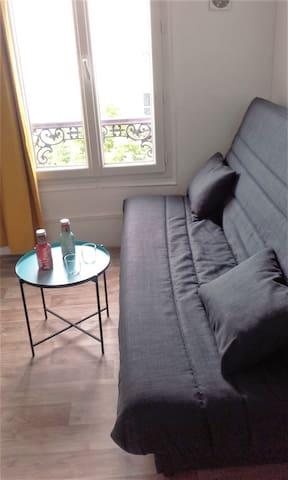 Studio calme, lumineux et indépendant dans Paris