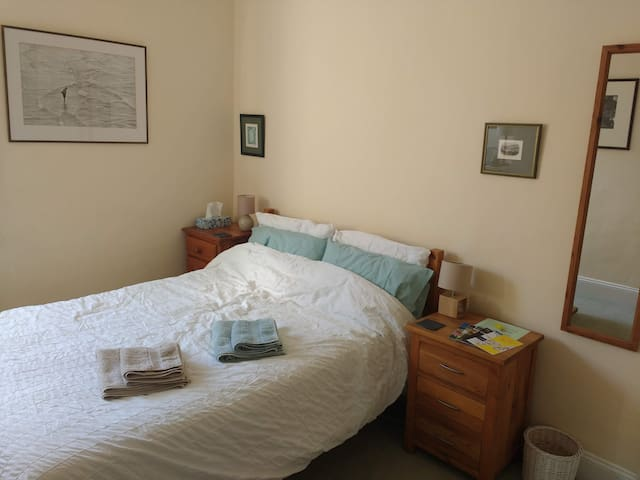 Simple double room; great location