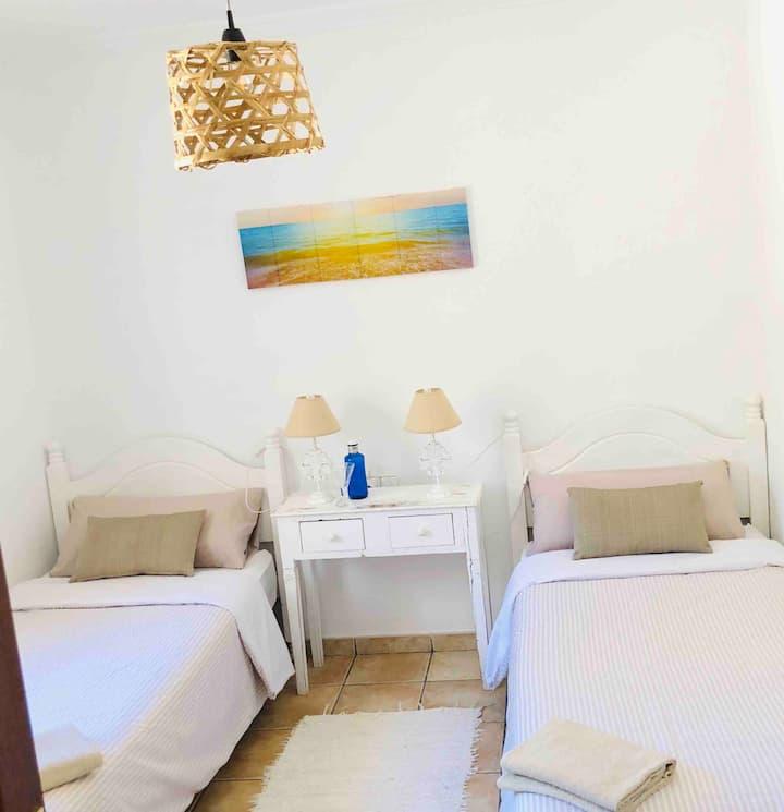 White room in quiet villa