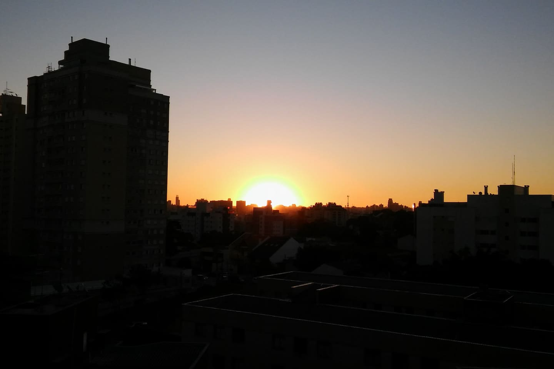 Pôr do Sol visto da Varanda.