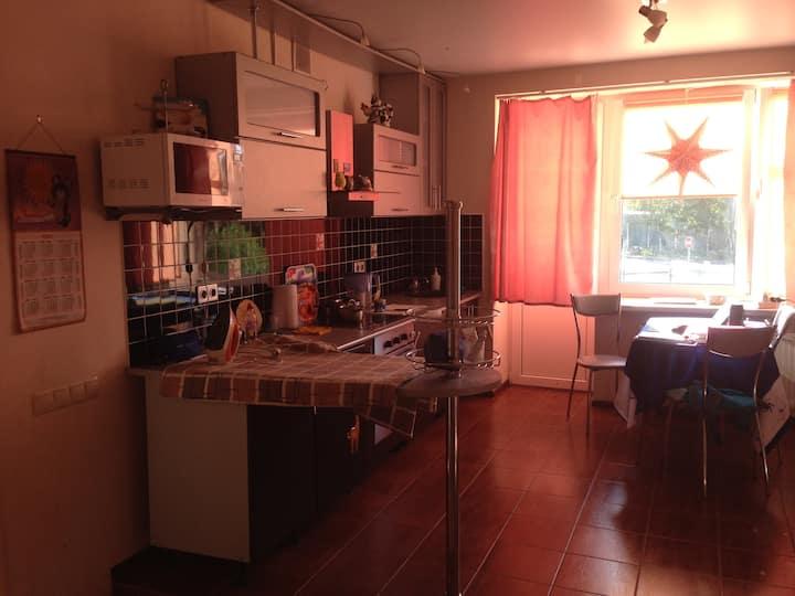 Room in studio apartment or apartment fully