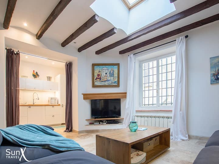 3-bed house in old Antibes with terrace & aircon
