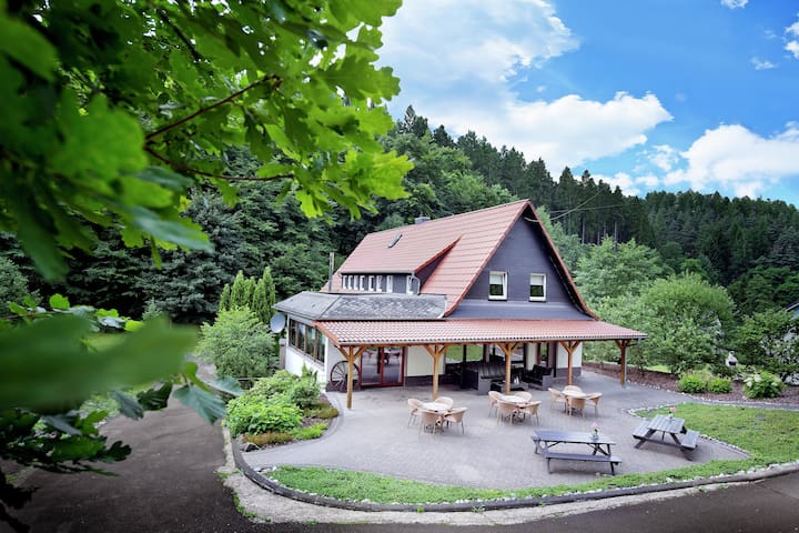 Luxurious Villa in Schutzbach with garden offering mountain views