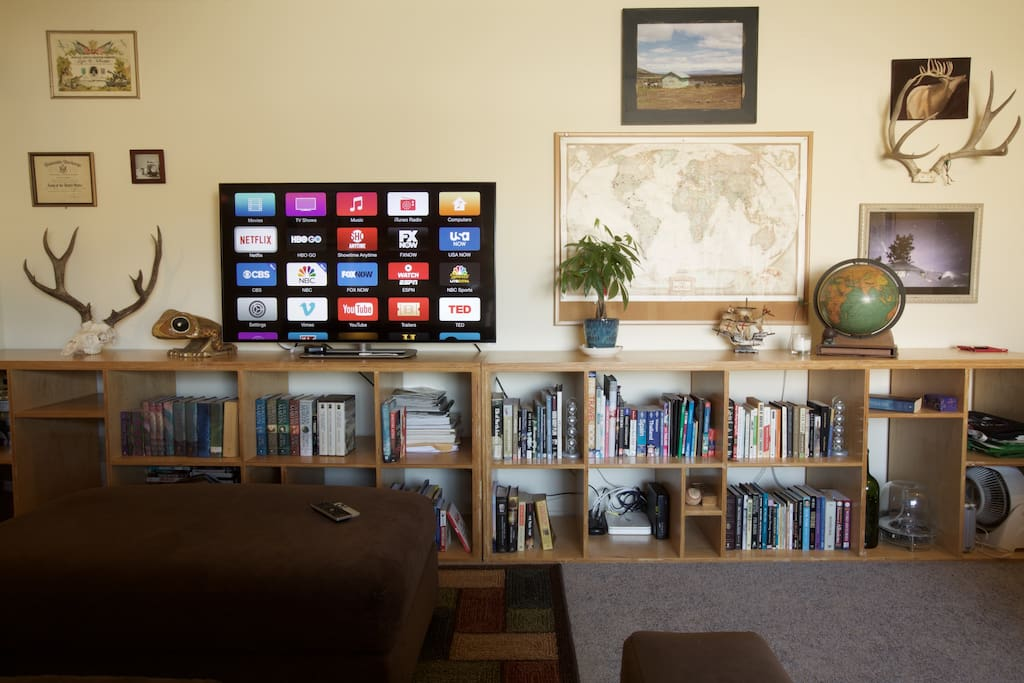 Apple TV with Netflix, HBO Go and an assortment of other apps.