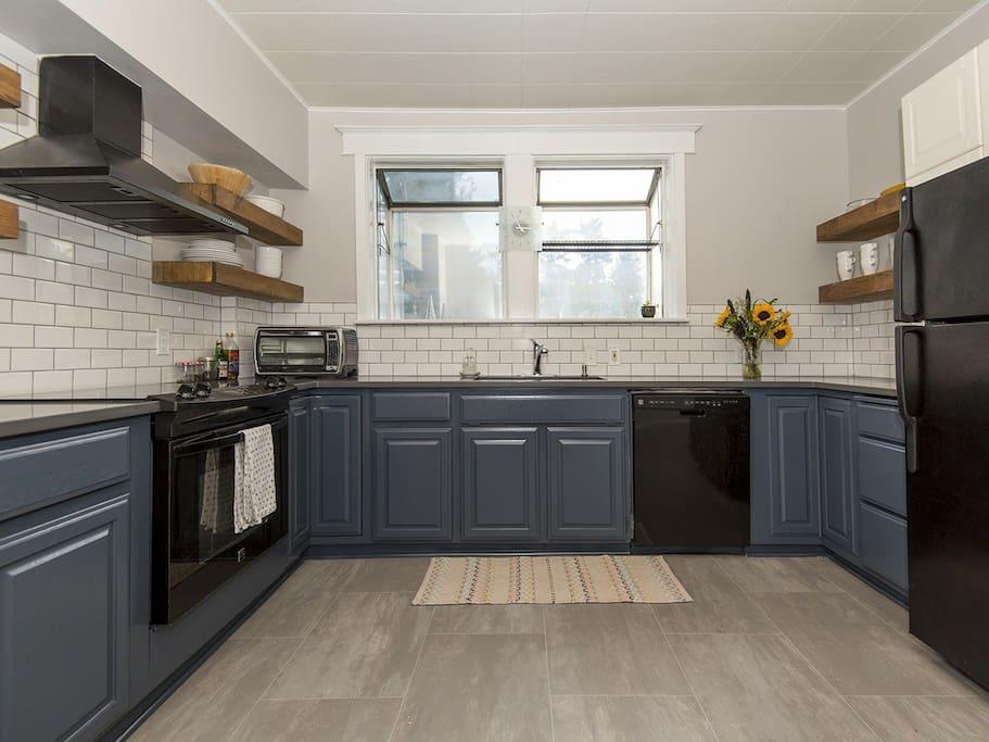 Fully remodeled farmhouse style kitchen