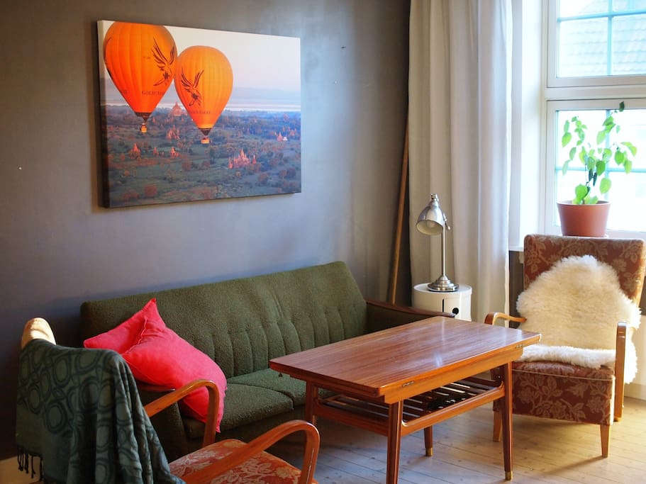 Seating area in the living room. The chairs are super comfortable!