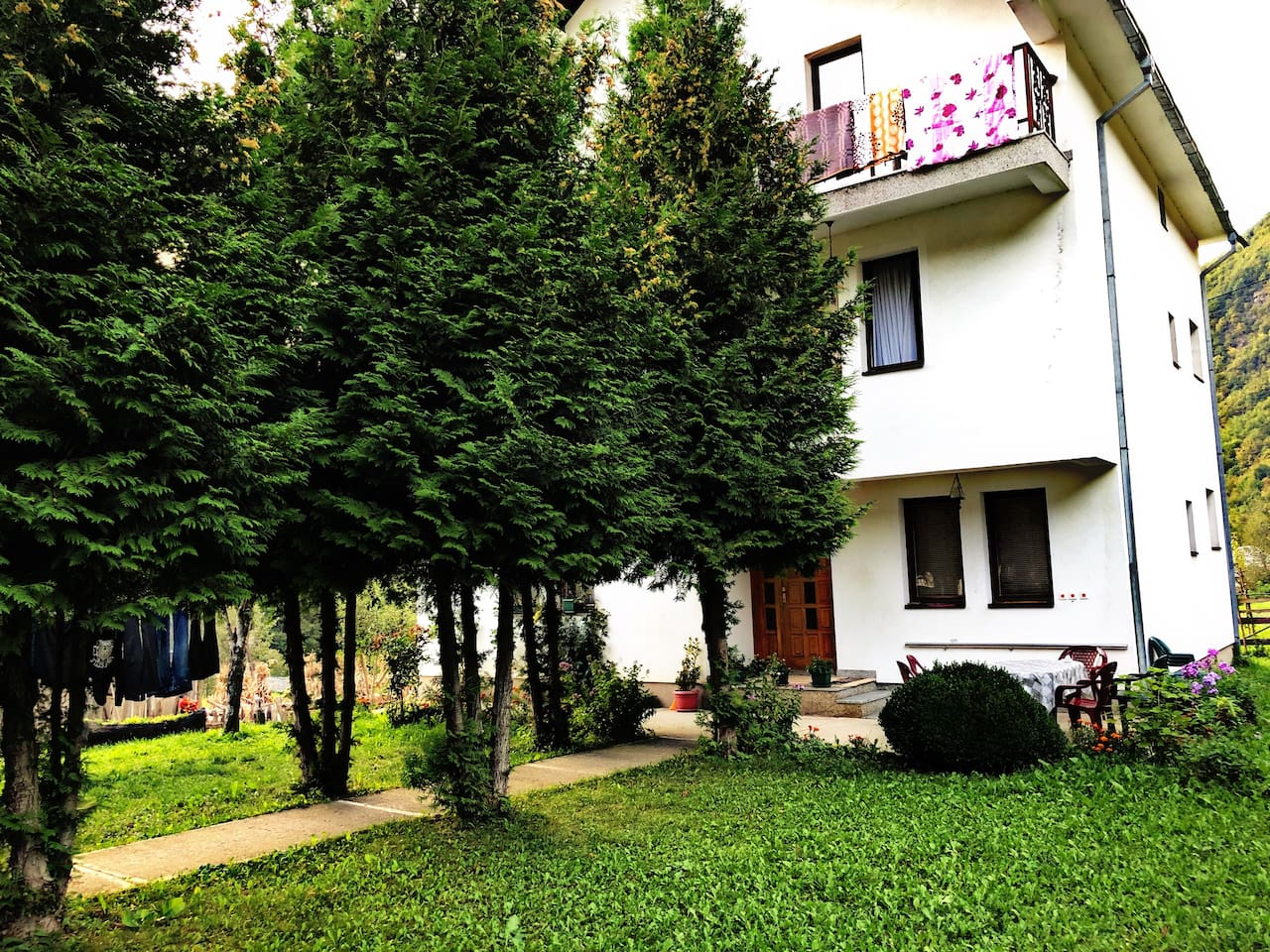 The best located house in Vusanje.  Traditional and ecological food for all interested. Welcome