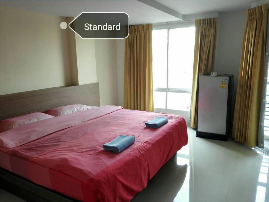 เตียงเดี่ยว/คู่ ห้องแสตนดาร์ด ขนาด25 ตารางเมตร