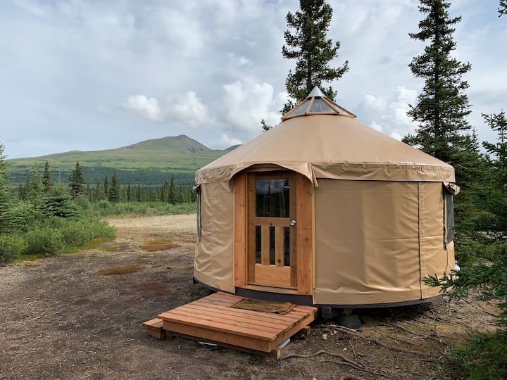 """Experience Alaska"" Yurt Rental #3 Open Year-Round"
