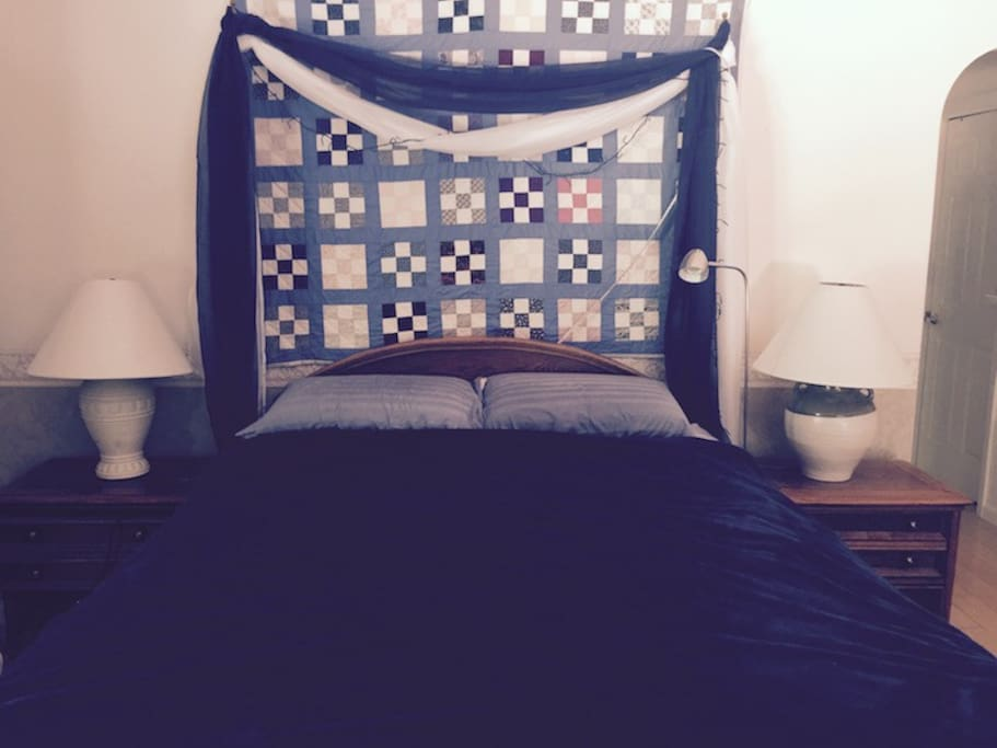 Get a great nights sleep in Bedroom #1 . It has a comfy Queen bed. BR #2 has a double loft bed.ower mattress is full size and accommodates 2 people. Upper loft mattress is also full size and accommodates 2 people.