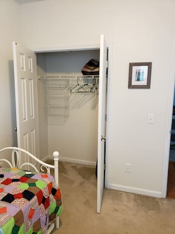 Plenty of closet space for your stay.