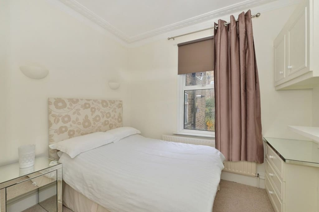 Double bedroom with plenty of fitted storage and drawers all empty for your use
