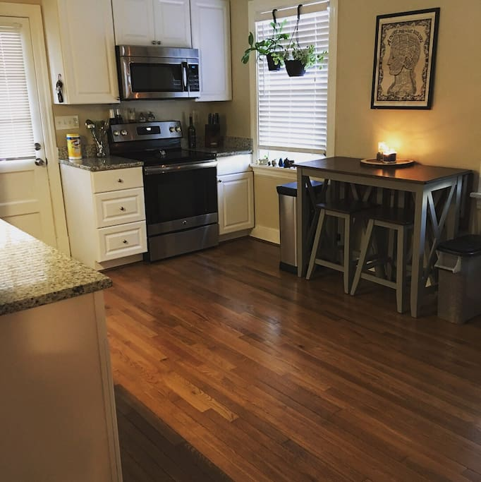 Full kitchen and table