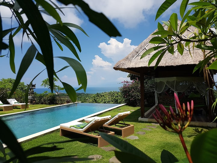 Villa Bukit Achara - 5 bedr Joglo - Ocean Views