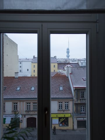 Big room with 2 windows with gorgeous  view. - Praag - Appartement