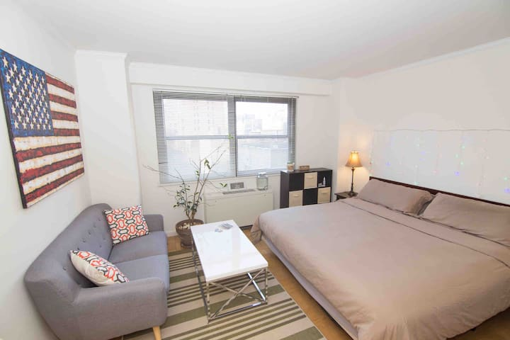 Huge Quiet Room w/ King Size Bed in NYC Center