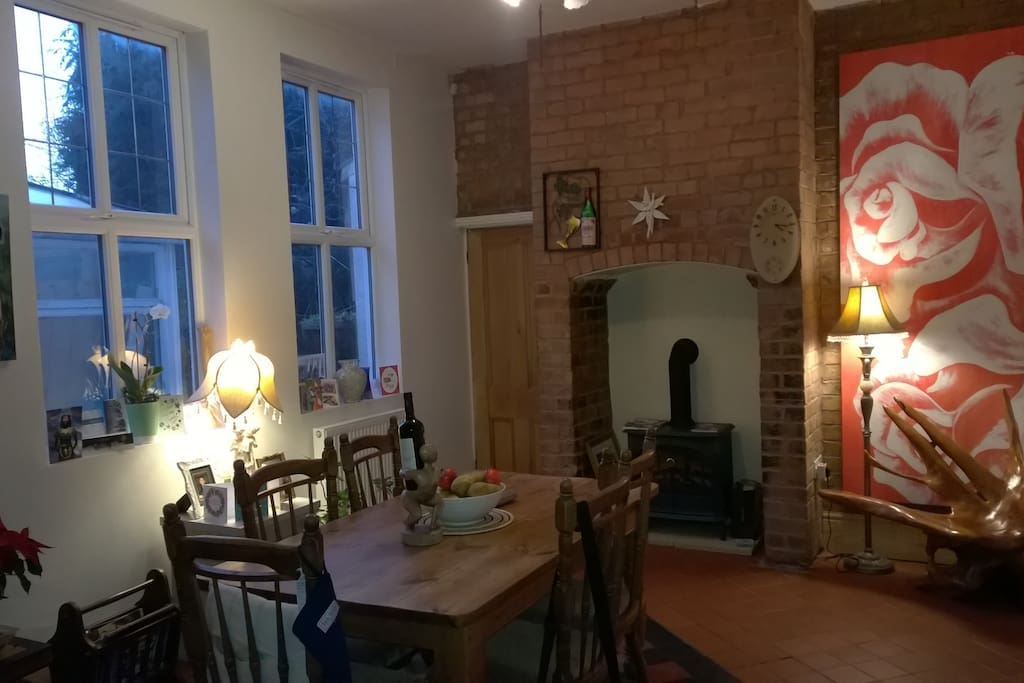 Dining room, great for working in