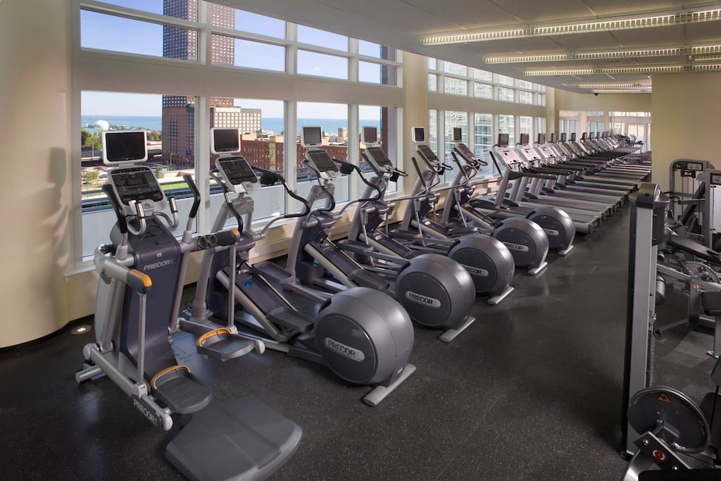 Fitness Center - you can do cardio with a view. Plenty of free weights.