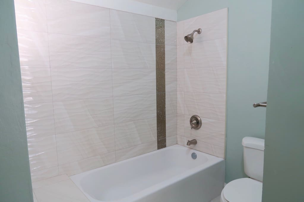 Beautifully decorated bathroom to enjoy on your stay.