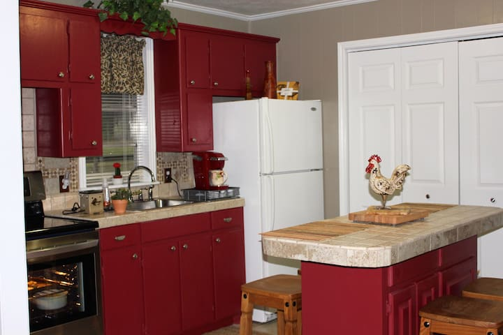 Fully furnished kitchen with all new appliances.