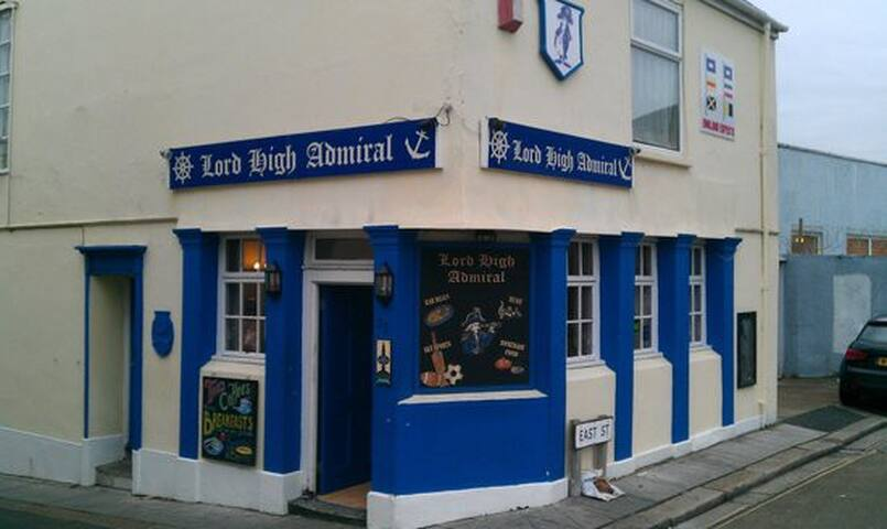 This is the local pub which sells craft beers, popular wines and plenty of gins and is only 5 mins walk away.  They also do home cooked foods and have a roaring fire in winter