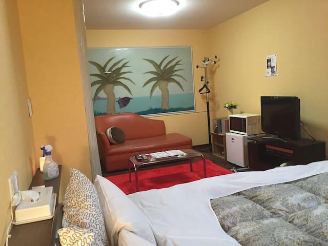 九十九里海岸に近い、ホテル オリーブ 一部屋4人まで利用できます。ご家族でご利用ください。 - Togane - Lägenhet