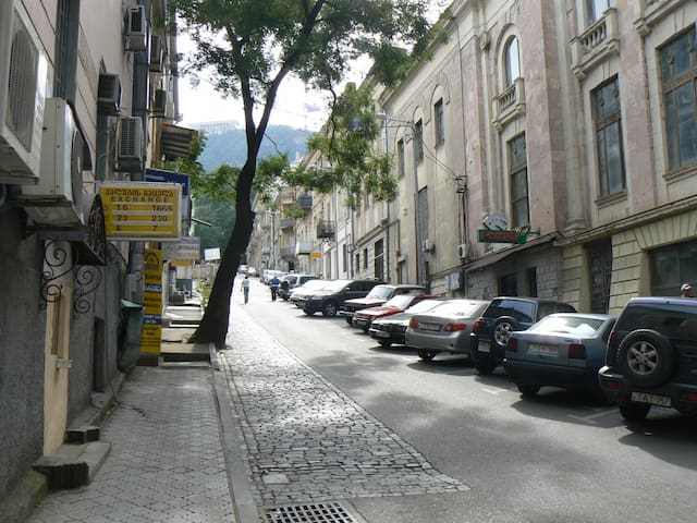 One of the nearby picturesque side streets