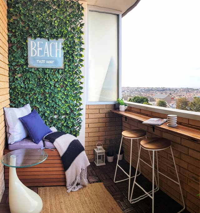 Relax with your favourite novel and enjoy the 180 views of Bondi Beach in your private balcony