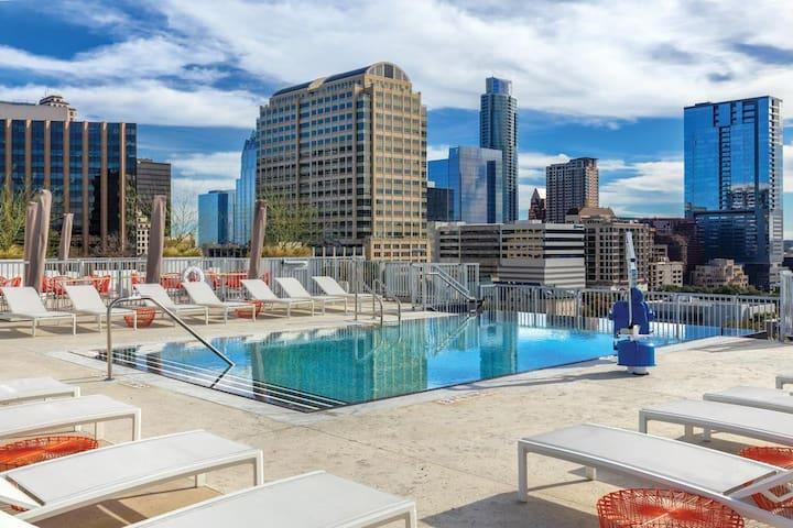 Walk to SXSW! Wyndham Austin Luxury 1BR Suite - #3