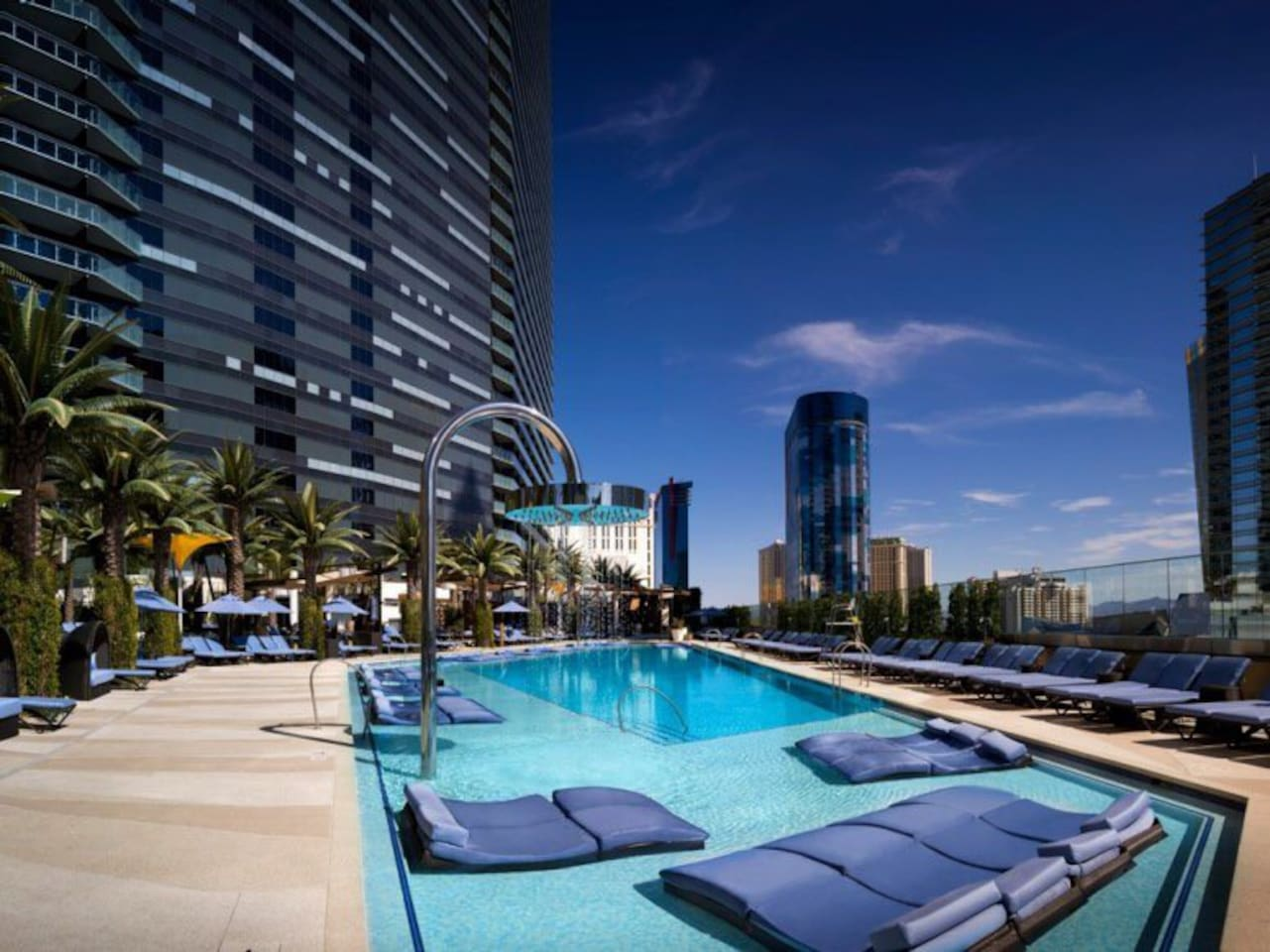 Comospolitan Hotel Chelsea Pool is one of the pools you have access to where you can enjoy a strip view.