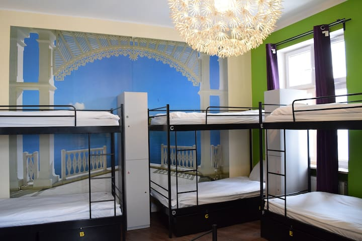 3City Hostel -  Łóżko w pokoju 6-osobowym