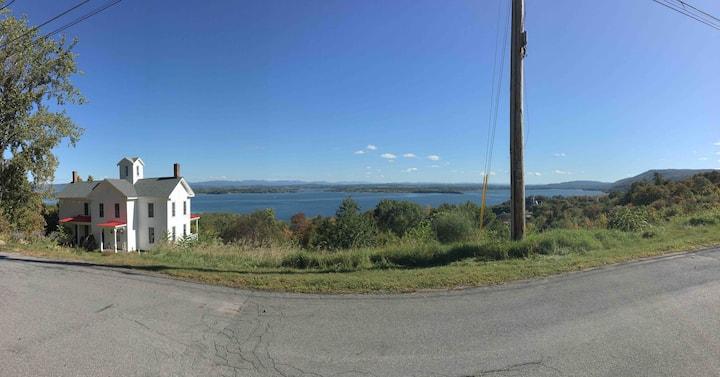 Circa 1840's house & great views of Lake Champlain