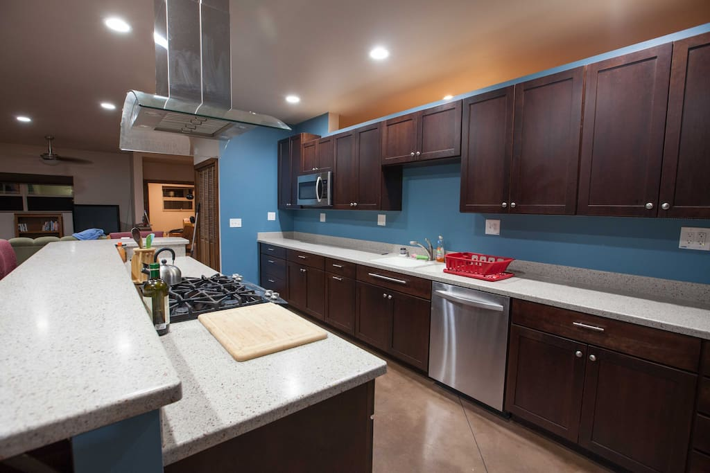 Large modern kitchen with all amenities.