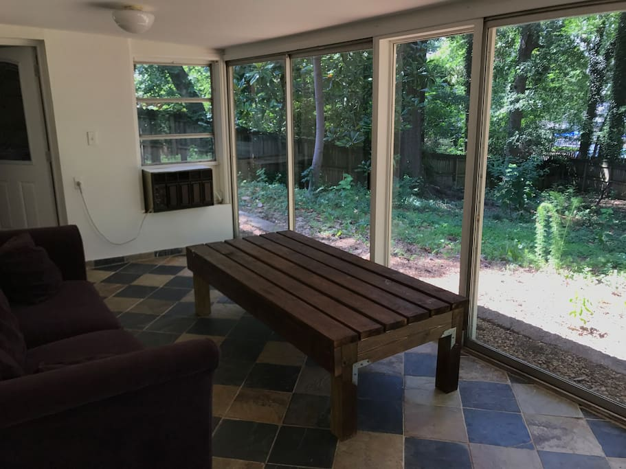 Air conditioned patio to enjoy a great view while staying out of the heat or cold.